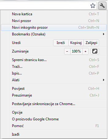 Private browsing Chrome