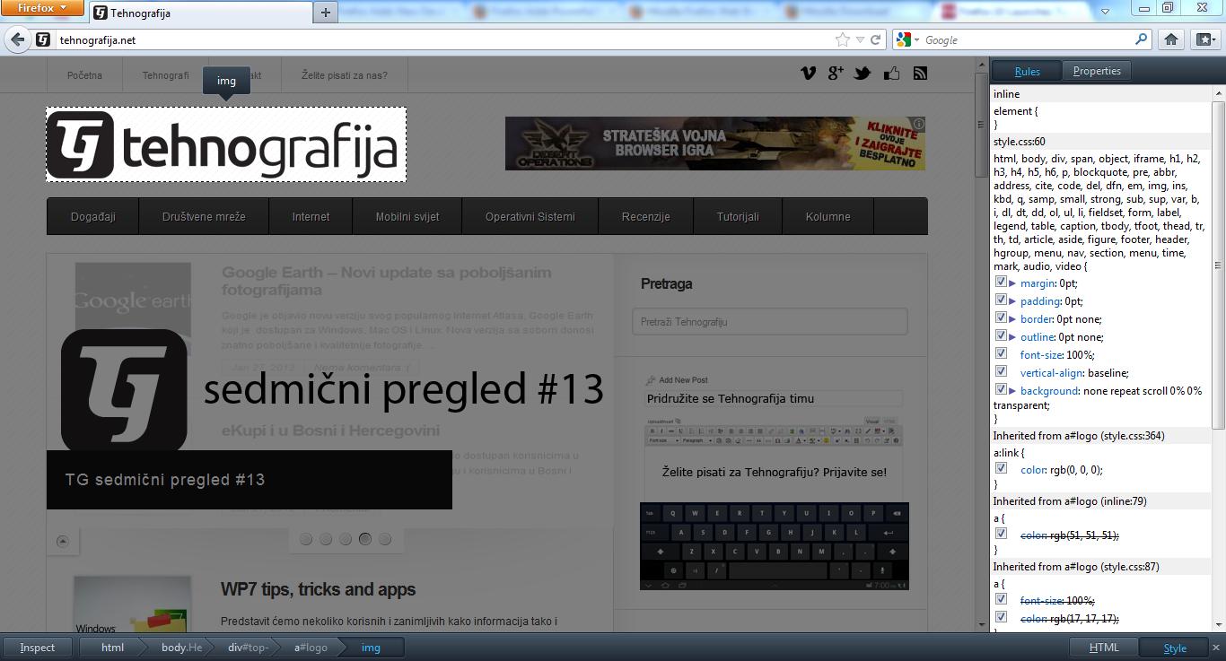 Firefox11 inspectEl Šta novo donosi Firefox 10?