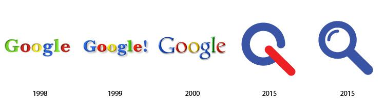 google Prošlost i budućnost popularnih logoa