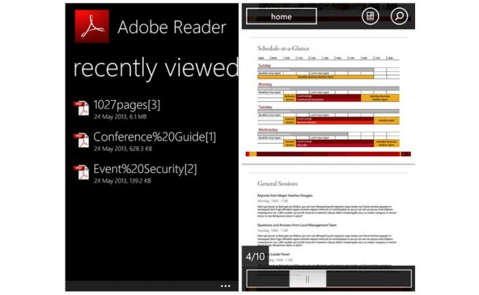 Adobe Reader WP8